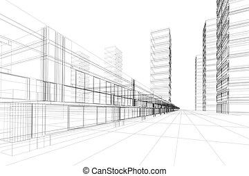 абстрактные, архитектура, 3d