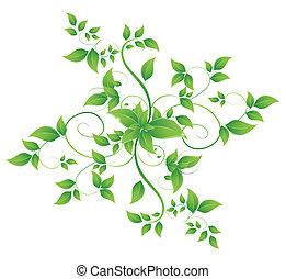 абстрактные, баннер, leaves, форма