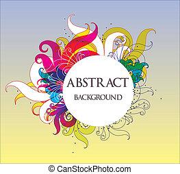 абстрактные, вектор, задний план