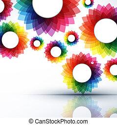 абстрактные, вектор, иллюстрация, творческий