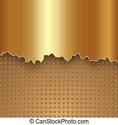 абстрактные, вектор, металл, золото, задний план
