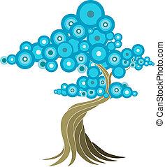 абстрактные, дерево, иллюстрация