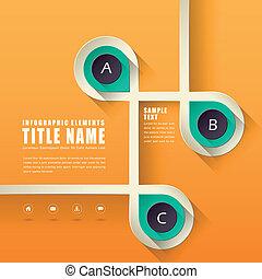 абстрактные, дизайн, infographics
