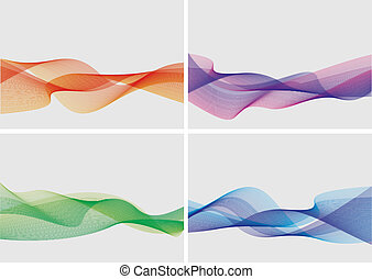 абстрактные, задавать, backgrounds, (vector)