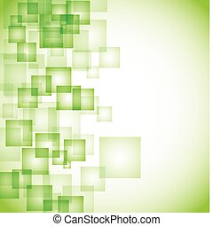 абстрактные, задний план, зеленый, квадрат