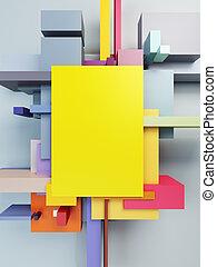 абстрактные, изобразительное искусство, состав