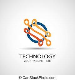 абстрактные, иллюстрация, вектор, схема, значок, доска, технологии