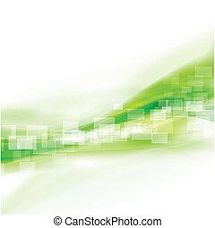 абстрактные, иллюстрация, гладкий; плавный, вектор, течь, зеленый, задний план