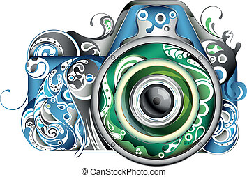 абстрактные, камера