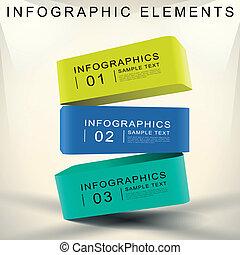 абстрактные, куб, 3d, infographics