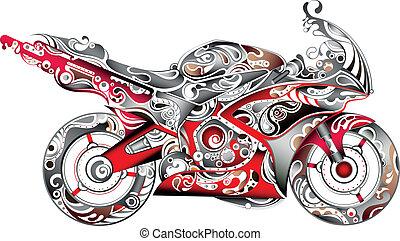 абстрактные, мотоцикл