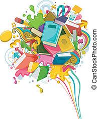 абстрактные, образование, дизайн
