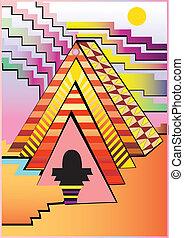 абстрактные, пирамида