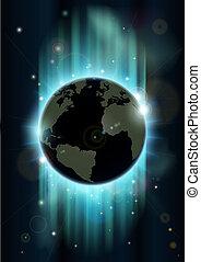 абстрактные, пространство, земной шар, мир, backgrou