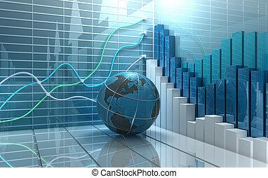 абстрактные, рынок, задний план, акции