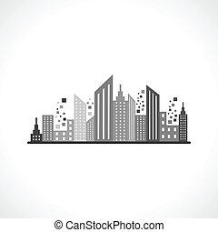 абстрактные, серый, дизайн, здание