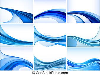 абстрактные, синий, задний план, задавать, вектор