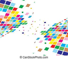 абстрактные, состав, мозаика