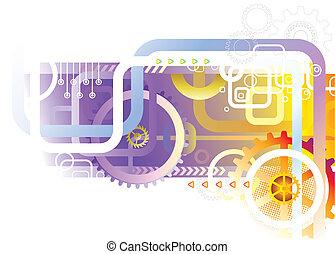 абстрактные, технологии