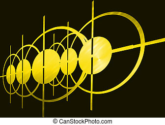 абстрактные, черный, желтый, задний план