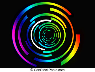 абстрактные, черный, красочный, задний план
