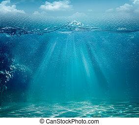 абстрактные, backgrounds, океан, дизайн, море, ваш