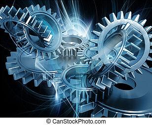 абстрактные, gears