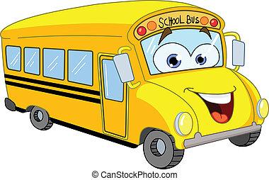автобус, школа, мультфильм