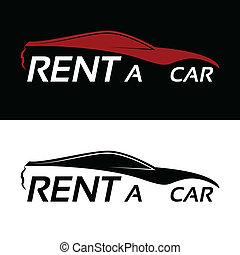 автомобиль, аренда, логотип