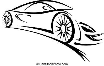 автомобиль, гоночный