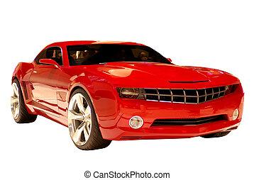 автомобиль, концепция, мышца