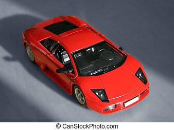 автомобиль, спорт, красный