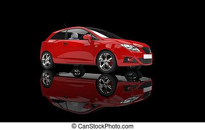 автомобиль, черный, красный, задний план