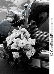 автомобиль, черный, свадьба