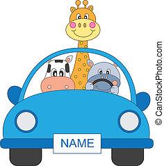 автомобиль, animals
