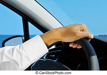 автомобиль, driving, человек
