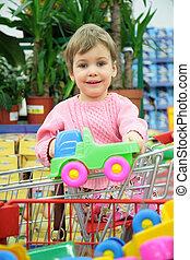 автомобиль, shoppingcart, игрушка, ребенок