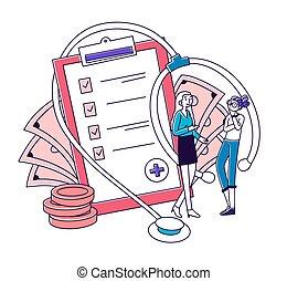 агент, здоровье, discussing, страхование, клиент