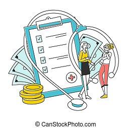 агент, клиент, страхование, discussing, здоровье