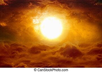 ад, закат солнца