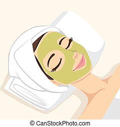 акне, маска, лечение, лицевой