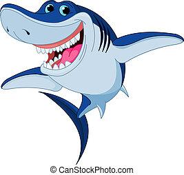 акула, веселая, мультфильм