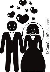 акции, вектор, брак, создание семьи, pictogram