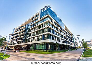 аллея, buildings, современное, будапешт, офис