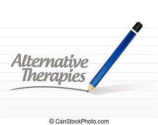 альтернатива, сообщение, therapies, знак