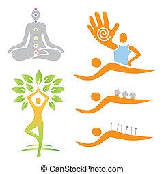 альтернатива, medi, йога, массаж, icons
