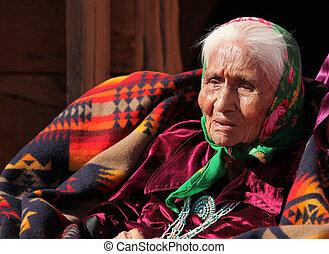 американская, женщина, пожилой, родной