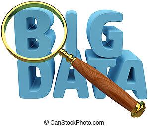 анализ, информация, данные, найти, большой