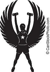 ангел, фитнес