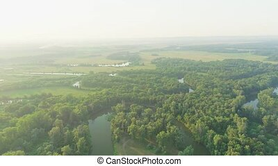 антенна, видео, реки, леса